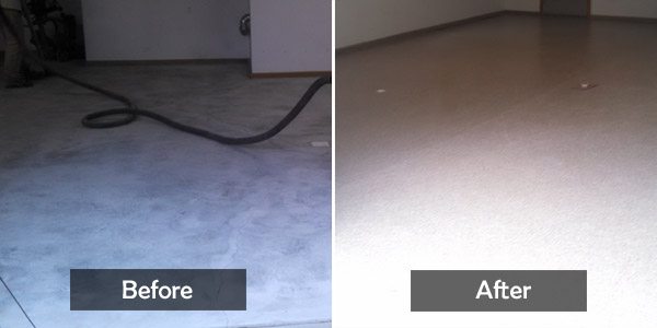 Garage_Floor_Ridgway_low spot patch_Before&after