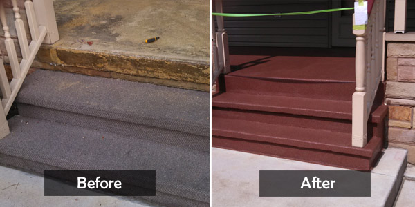 carpet stairs before&after