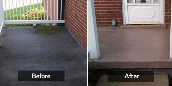 outdoor carpet before&after