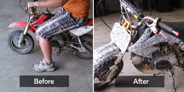 pit bike before&after