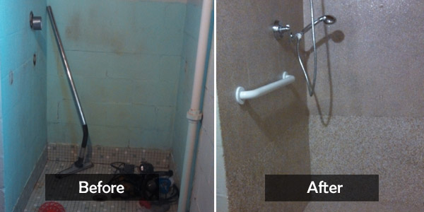 shower befoe&after